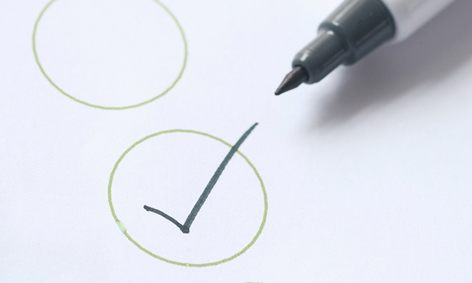 Picture: Pen with checkmark